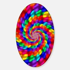 Psychedelic Spiral Sticker (Oval)