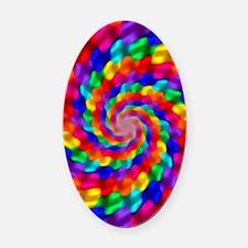 Psychedelic Spiral Oval Car Magnet