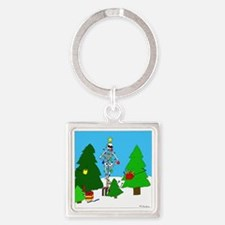 Merry Christmas! Square Keychain