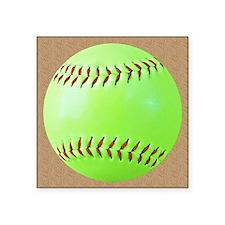 """Softball Square Sticker 3"""" x 3"""""""