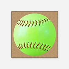 "Softball Square Sticker 3"" x 3"""