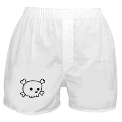 Wee Pirate Skull - Adults Boxer Shorts