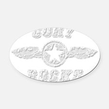 CORY ROCKS Oval Car Magnet