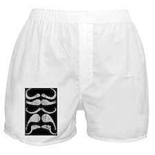 Mustaches, Vintage, Boxer Shorts