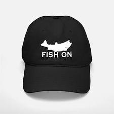 Fish on Baseball Hat