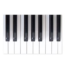 Piano Keyboard 5 Postcards (Package of 8)