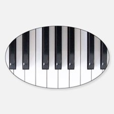 Piano Keyboard 5 Sticker (Oval)