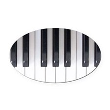 Piano Keyboard 5 Oval Car Magnet