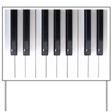 Piano Keyboard 5 Yard Sign