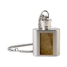 Sheet Music, Vintage, Flask Necklace