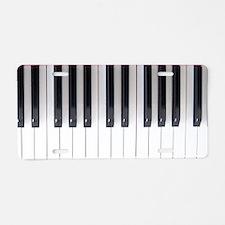 Piano Keyboard 6 Aluminum License Plate