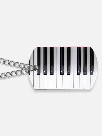 Piano Keyboard 6 Dog Tags