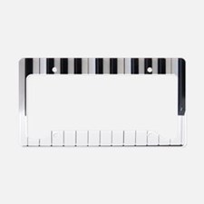 Piano Keyboard 6 License Plate Holder