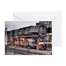 Vintage Locomotive Steam Train Greeting Card