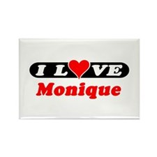 I Love Monique Rectangle Magnet
