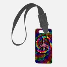 Peace Sign, Tie Dye Luggage Tag