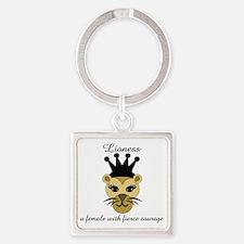 Lioness Square Keychain