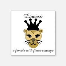 "Lioness Square Sticker 3"" x 3"""
