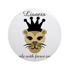 Lioness Round Ornament
