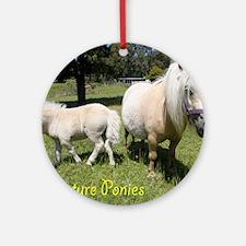 Mini Pony Round Ornament