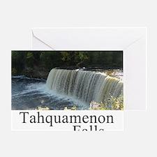 Tahquamenon Falls White Greeting Card