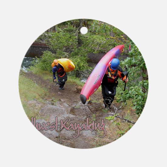 00cover-nwKayak Round Ornament