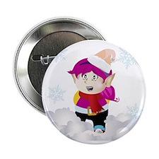 "Kozzi-little-holiday-elf-vector-5000  2.25"" Button"