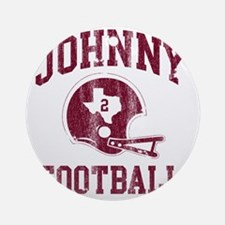 Johnny Football Round Ornament