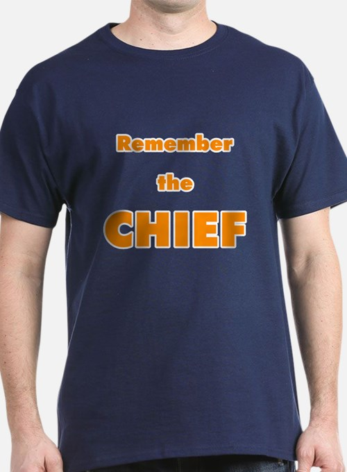 Remember The Chief Navy-colored T-Shirt