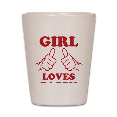 This Girl Loves Bacon Shot Glass