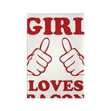 This Girl Loves Bacon Rectangle Magnet