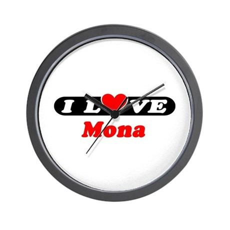 I Love Mona Wall Clock