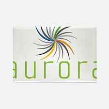 Aurora Logo Rectangle Magnet