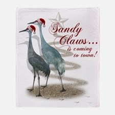Sandy Claws is coming to town! Throw Blanket