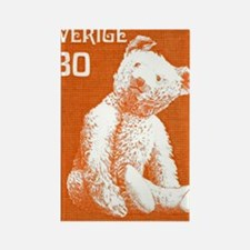 1978 Sweden Teddy Bear Postage St Rectangle Magnet