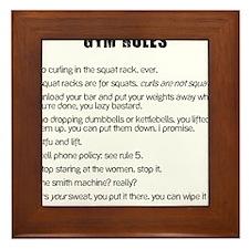 Gym Rules Framed Tile