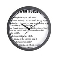 Gym Rules Wall Clock