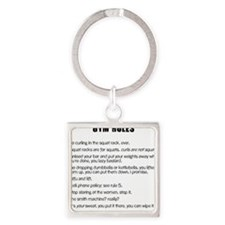 Gym Rules Square Keychain