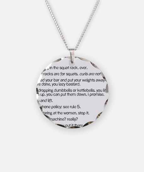 Gym Rules Necklace