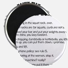 Gym Rules Magnet