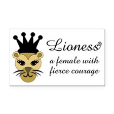 Lioness Rectangle Car Magnet