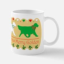Golden Retriever Christmas Teapot Gold Mug