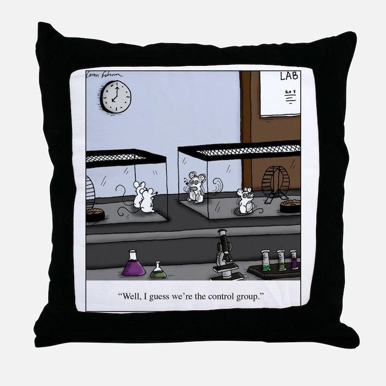 Control Group Mice Throw Pillow