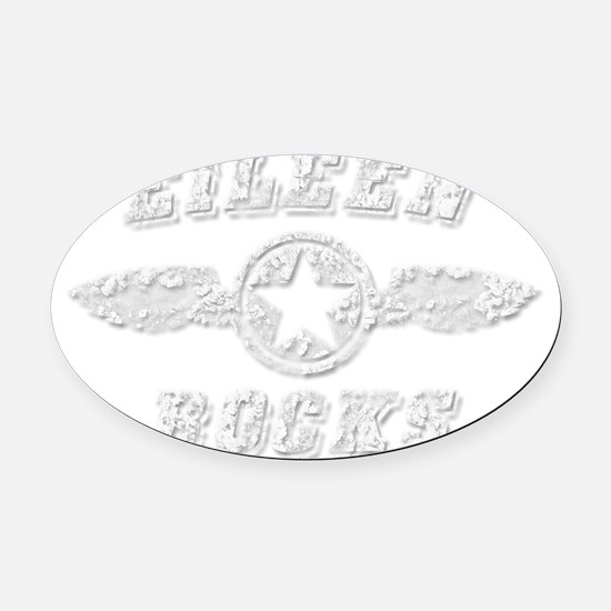 EILEEN ROCKS Oval Car Magnet