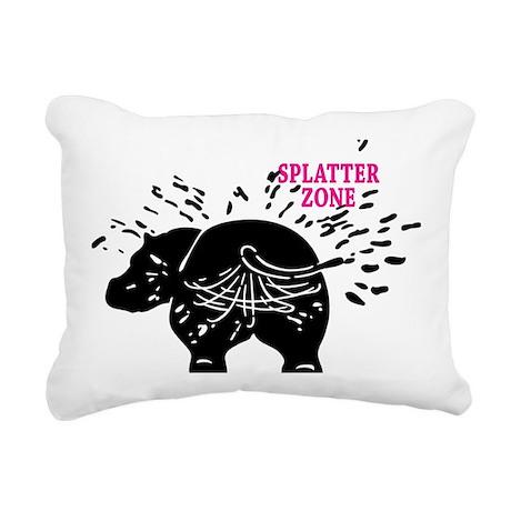Splatter Zone Rectangular Canvas Pillow