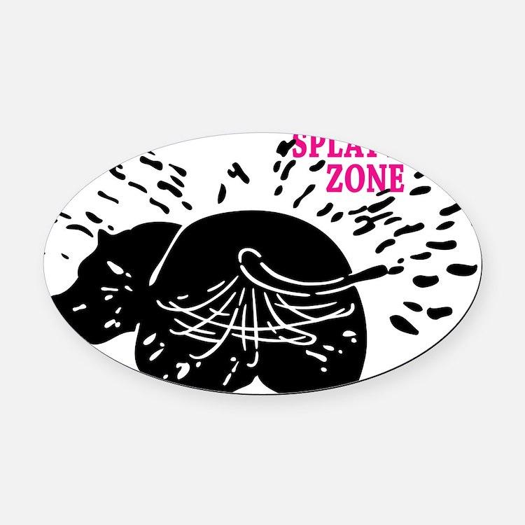 Splatter Zone Oval Car Magnet