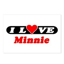 I Love Minnie Postcards (Package of 8)