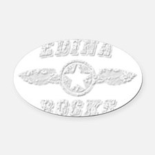 EDINA ROCKS Oval Car Magnet