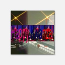 """Happy Kwanza Square Sticker 3"""" x 3"""""""