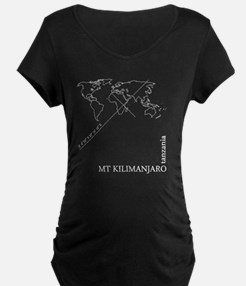 Kilimanjaro geocode map T-Shirt